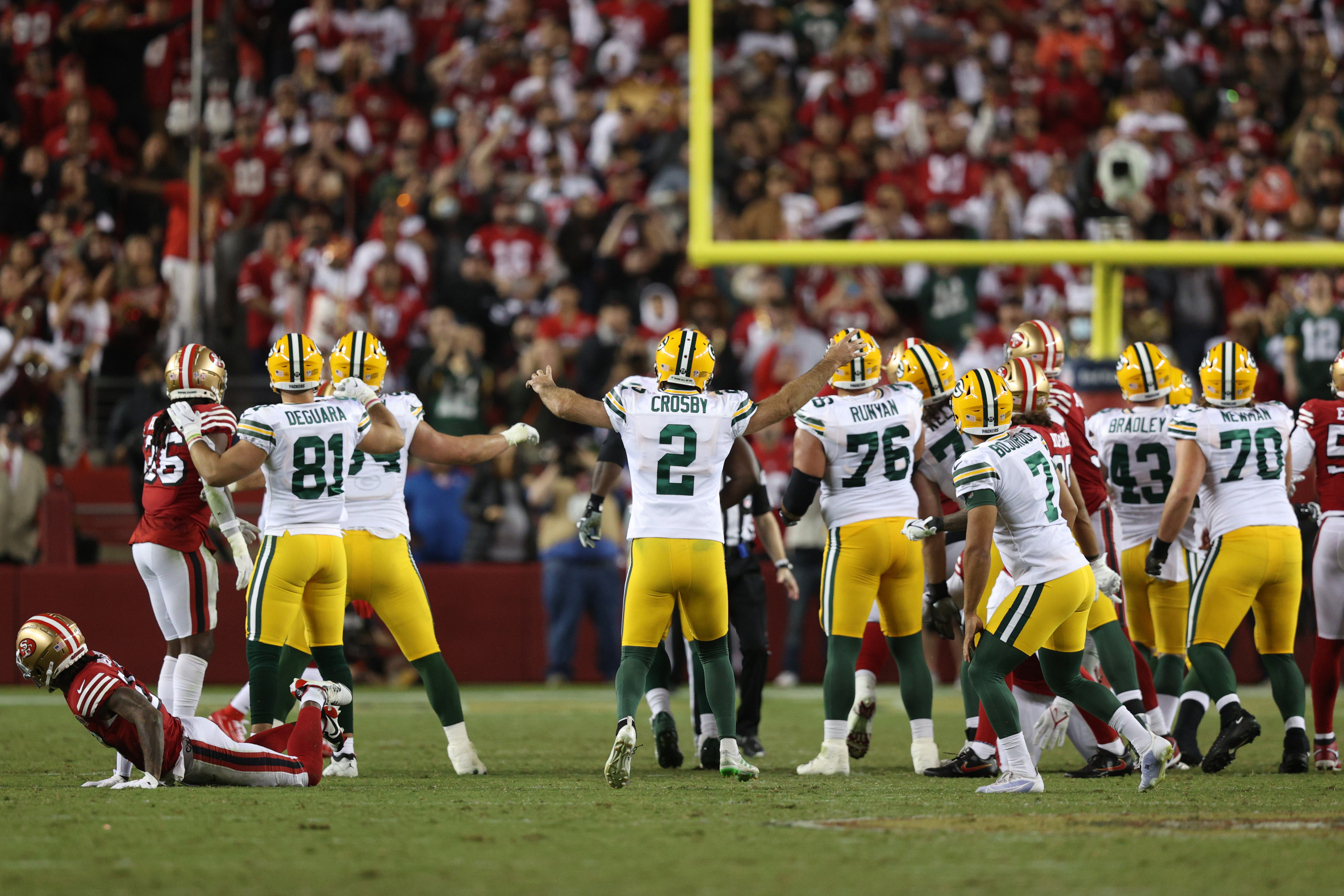 Watch the moment Mason Crosby kicks Packers to thrilling win vs. 49ers